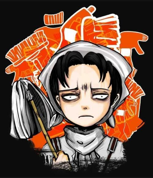 Levi Cleaning Squad Póló - Attack On Titan - Rotnoir