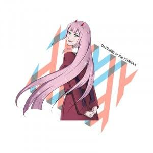 Darling in the FranXX - Zero Two Póló - Darling in the FranXX - Lindako