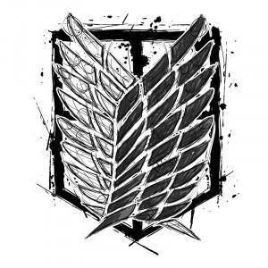 Graphic legion logo Póló - Attack on Titan - Grenn